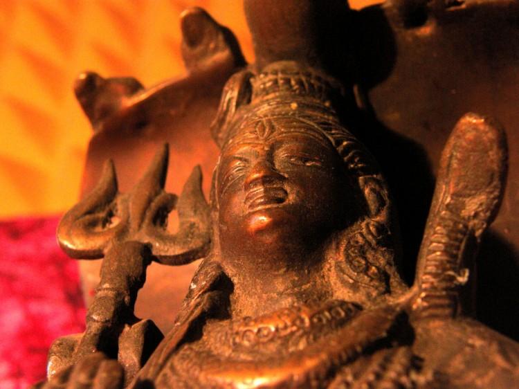 Fotka sošky indického boha
