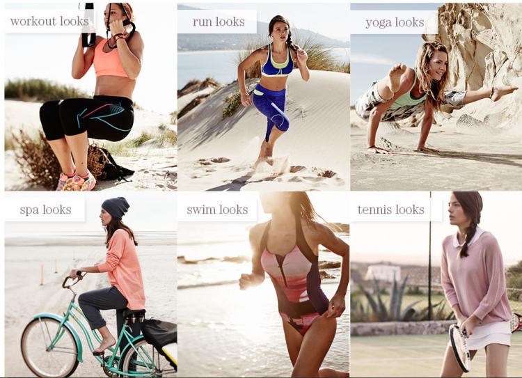 fotografie žen oblečených do sportovního oblečení Sweaty Betty