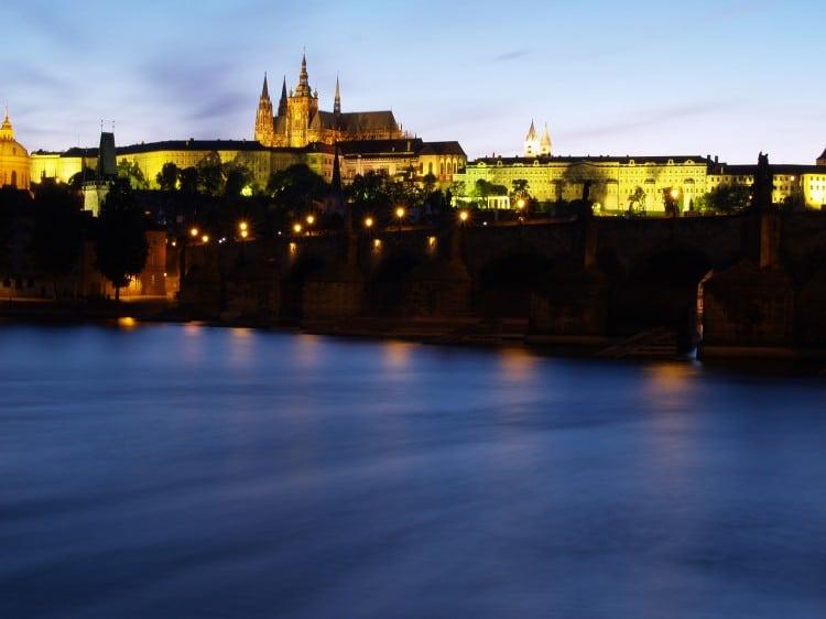 Fotka podvečerní Prahy