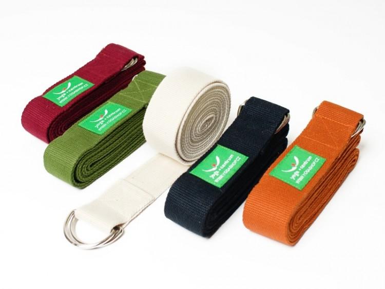 Barevné pásky na jógu ze 100% bavlny