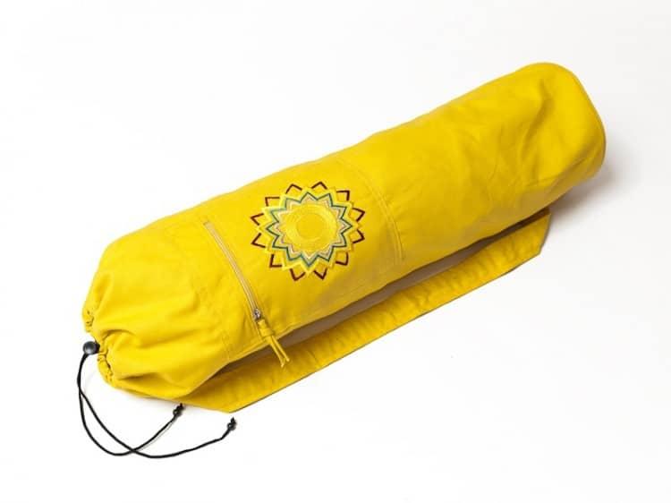 Žlutý vak na jógu ze 100 % bavlny