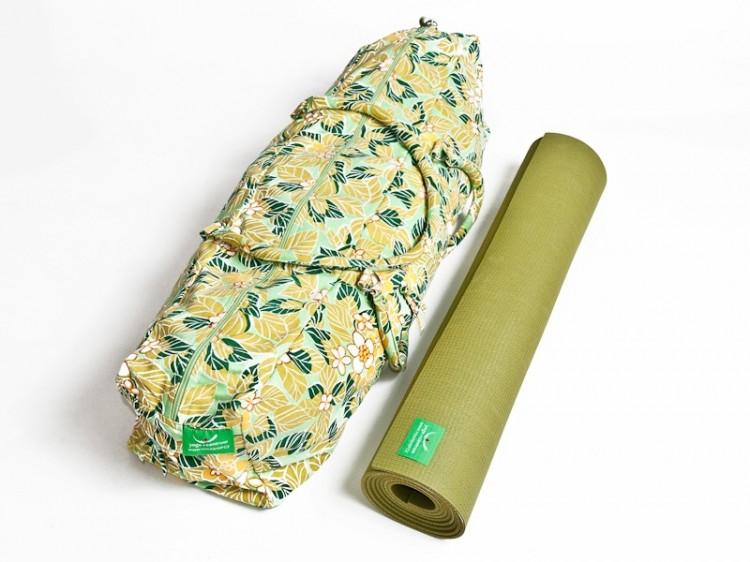 Sada na jógu - zelená podložka a taška
