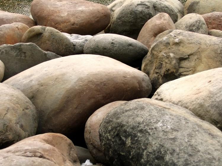 fotka plážových kamenů
