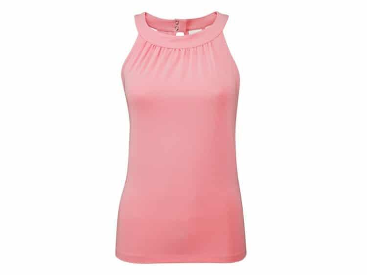 růžové tílko na jógu z bio bavlny