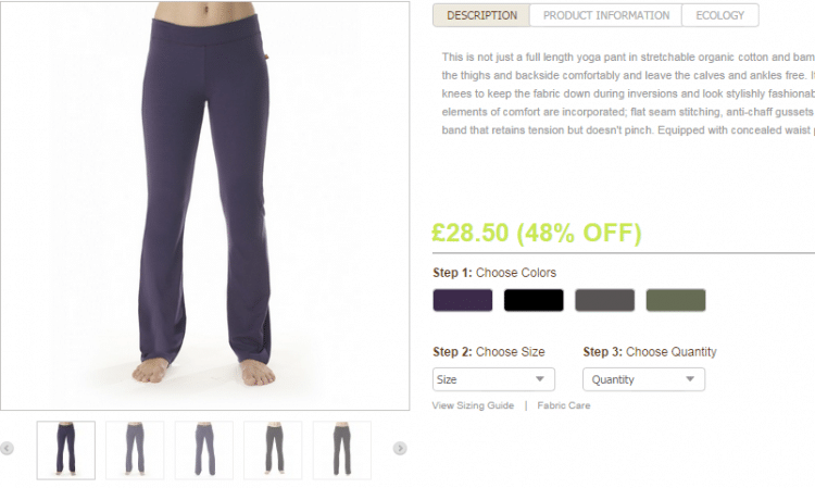 Dlouhé kalhoty na jógu z bio bavlny a bambusových vláken