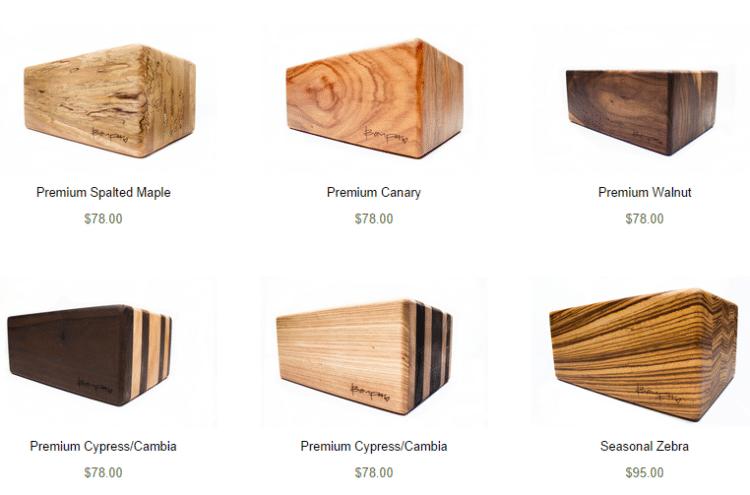 Designové dřevěné cihličky na jógu