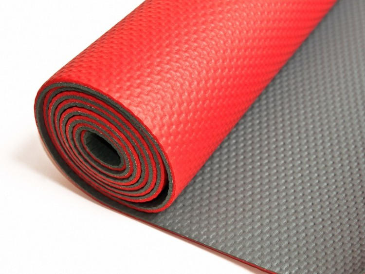 Červená Asana Yogacentrum light podložka na jógu
