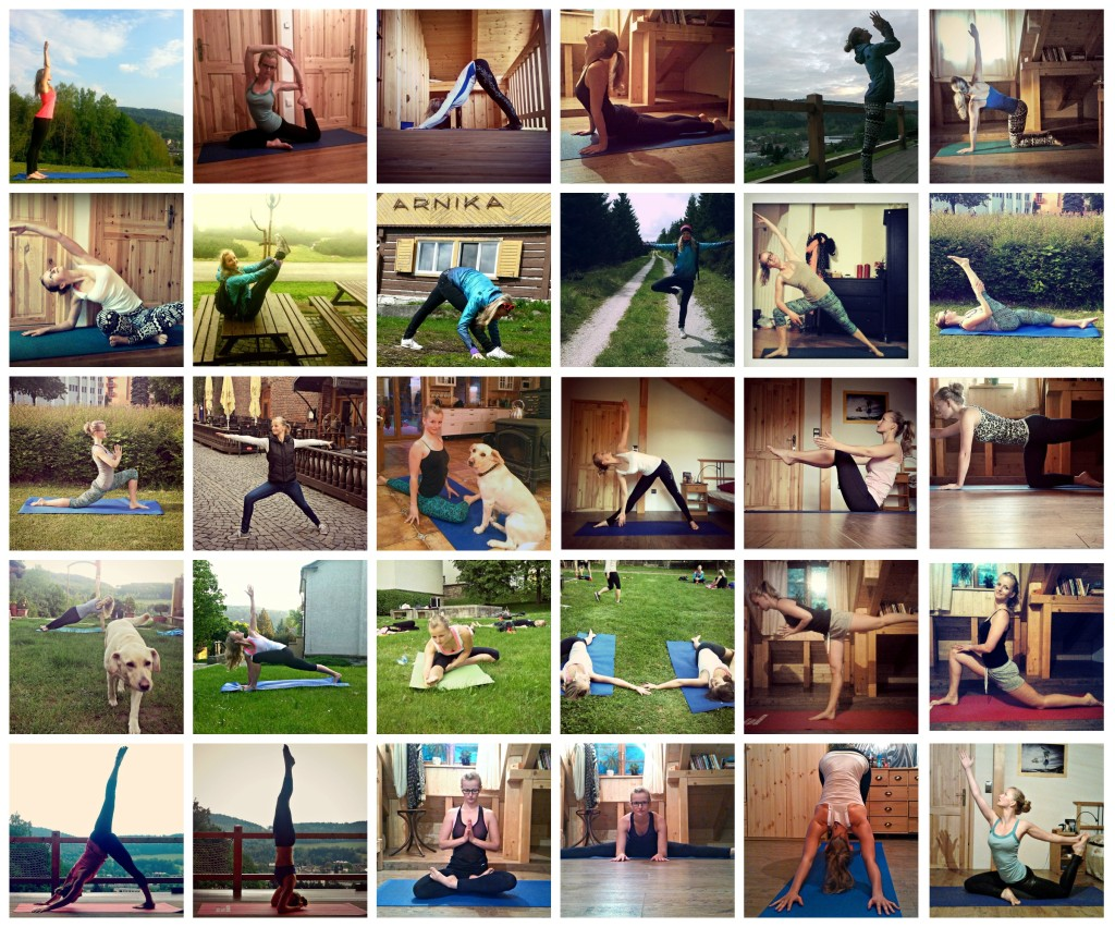 Koláž účastnice jóga výzvy