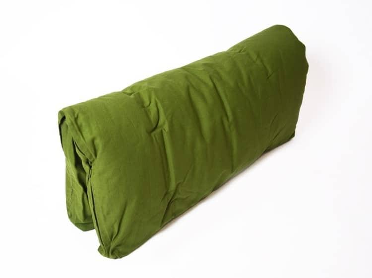 Zelená bavlněná meditační podložka Yogashop