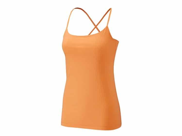 Oranžové tílko na cvičení jógy Yogashop