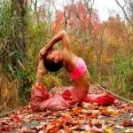 Podzimní vodopád jógy