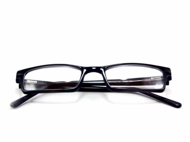Černé unisexové dioptrické brýle