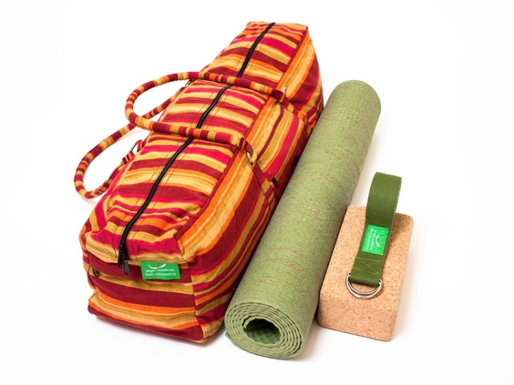 Sada na cvičení jógy - taška, podložka, cihlička a opasek