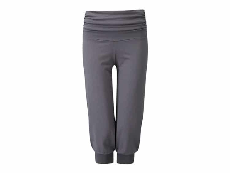 Šedé tříčtvrteční kalhoty na jógu