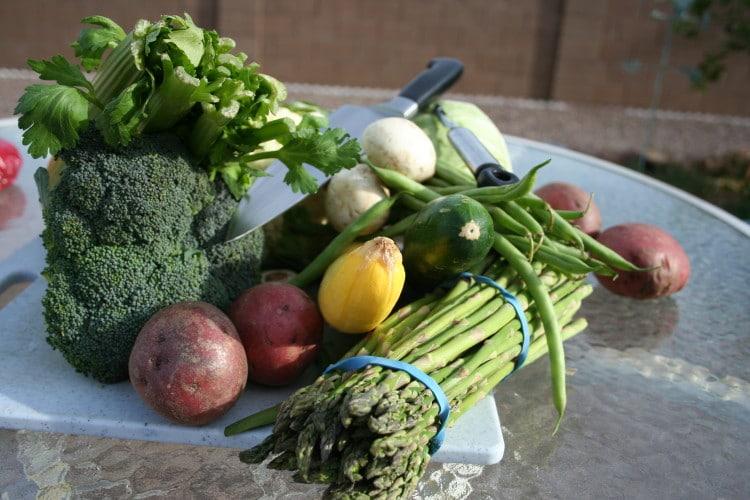 Zelenina připravená k vaření