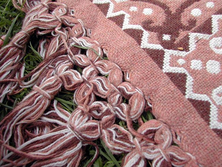Makro fotografie orientálního koberečku
