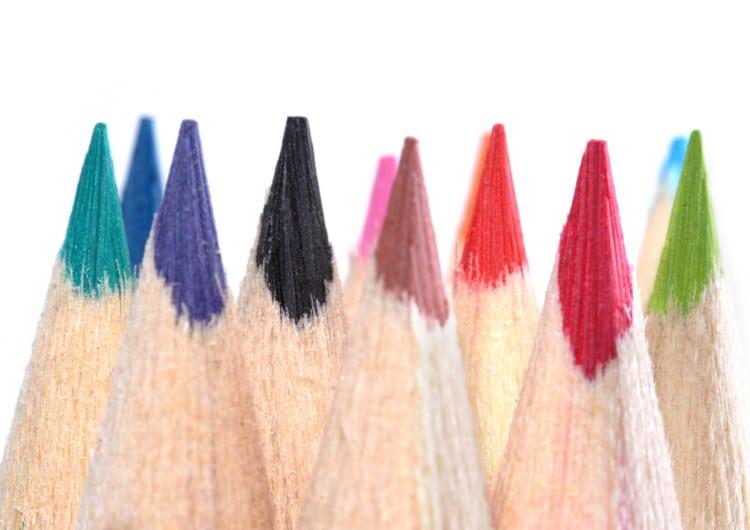 Barevné hroty pastelek