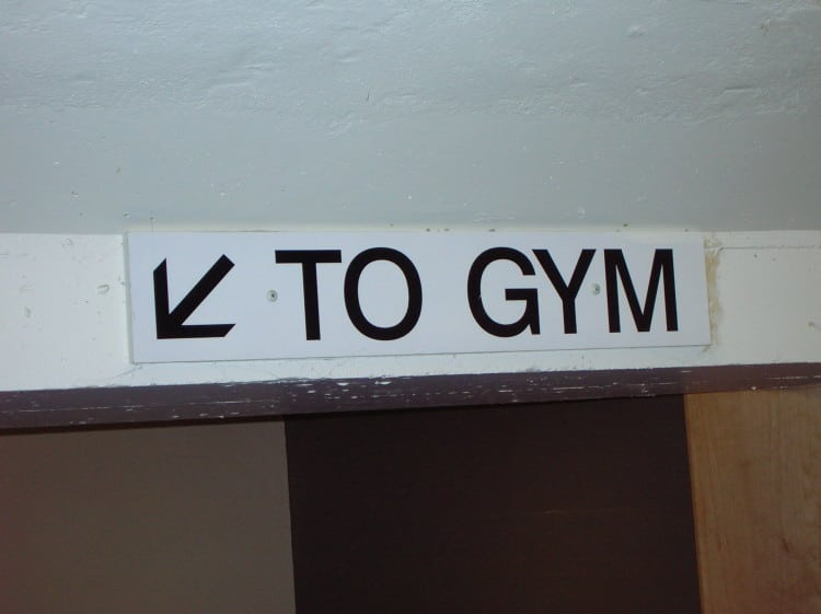 Cedule ke školní tělocvičně