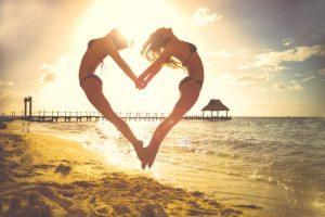 kamarádky na pláži