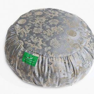 Stříbrný meditační polštář