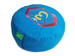 Meditační polštář modrý