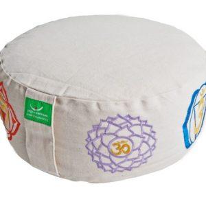 Bílý meditační polštář