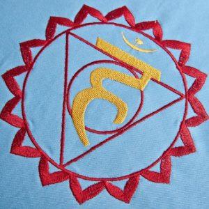 Světle modrý meditační polštář