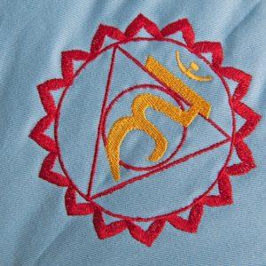 Meditační polštář světle modrý