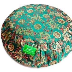 Zelený meditační polštář
