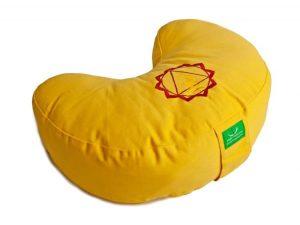 Žlutý meditační polštář