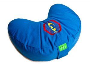 Modrý meditační polštář