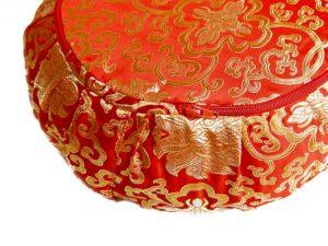 Červený meditační polštář