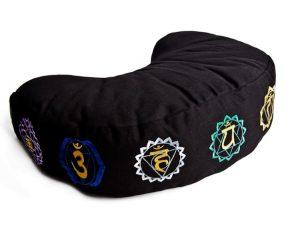 Černý meditační polštář