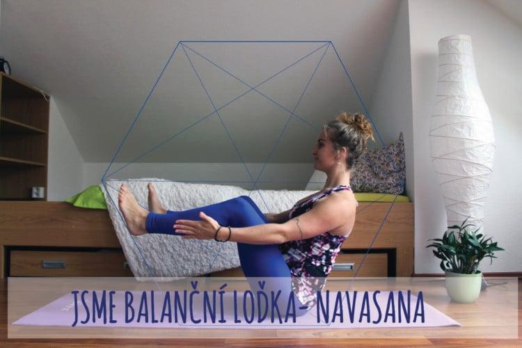 Jsme balanční loďka – Navasana