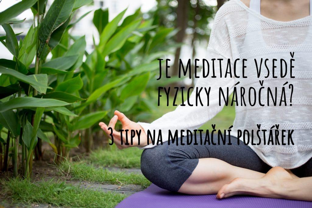 Tři tipy na meditační polštářek