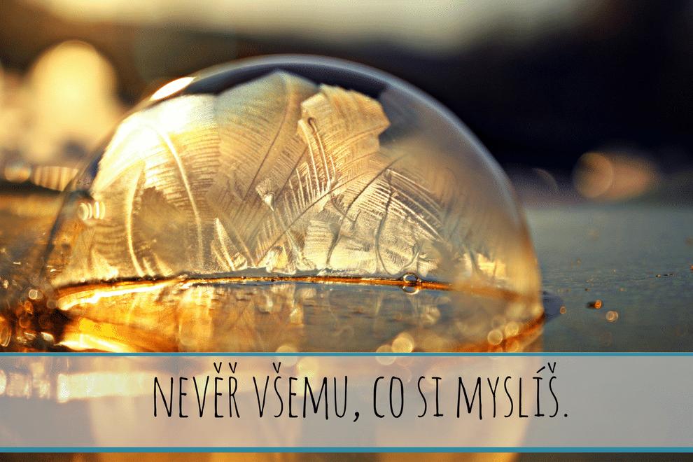 bublina, voda, citát