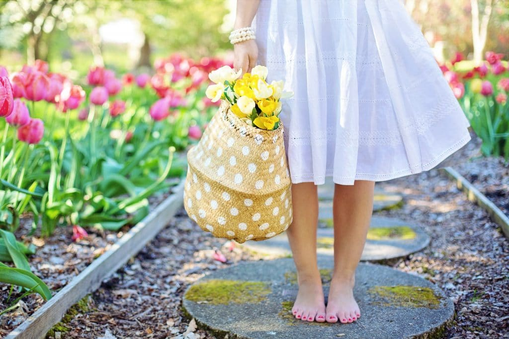jaro, nohy, nákup
