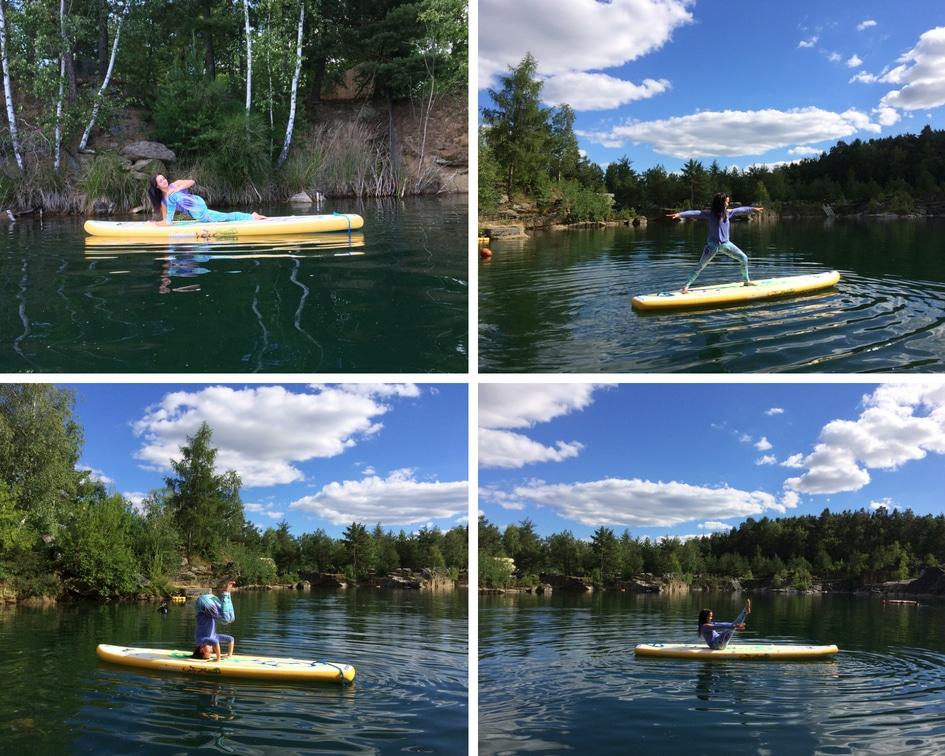 paddle board joga