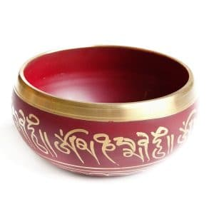 Červená tibetská mísa