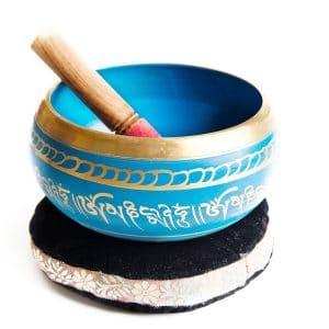 Modrá tibetská mísa