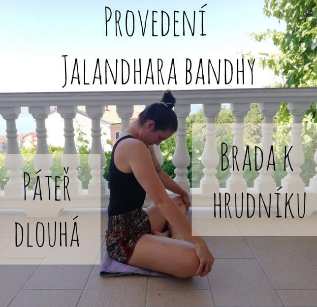 Provedení Jalandhara bandhy